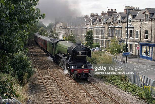LNER steam locomotive 462 No 4472 Flying Scotsman travelling through York on route to Scarborough The Flying Scotsman was the first express passenger...