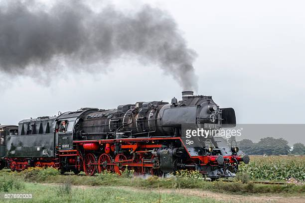 Steam locomotive in the countryside