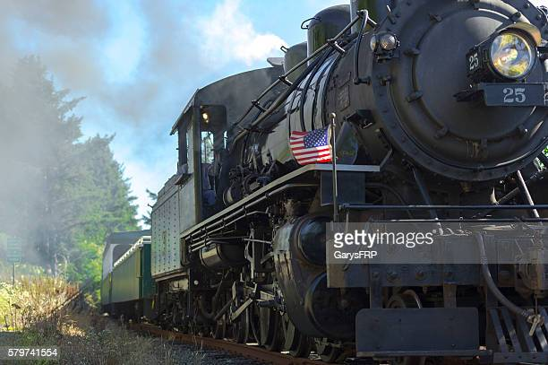 OCSR Steam Locomotive McCloud Railway No. 25 Garibaldi Oregon Close-up