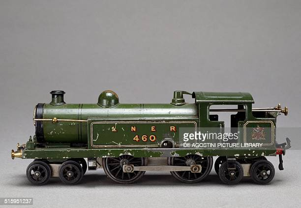 Steam locomotive springloaded toy made by Hornby 1925 Britain 20th century Milan Museo Del Giocattolo E Del Bambino