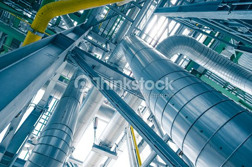 Steam Piping With Thermal Insulation In Boiler Of Power Plant Stock ...