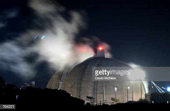 Steam rises between reactors 2 and 3 at the San Onofre Nuclear Generating Station March 1 2002 near San Clemente CA The plant was key to providing...