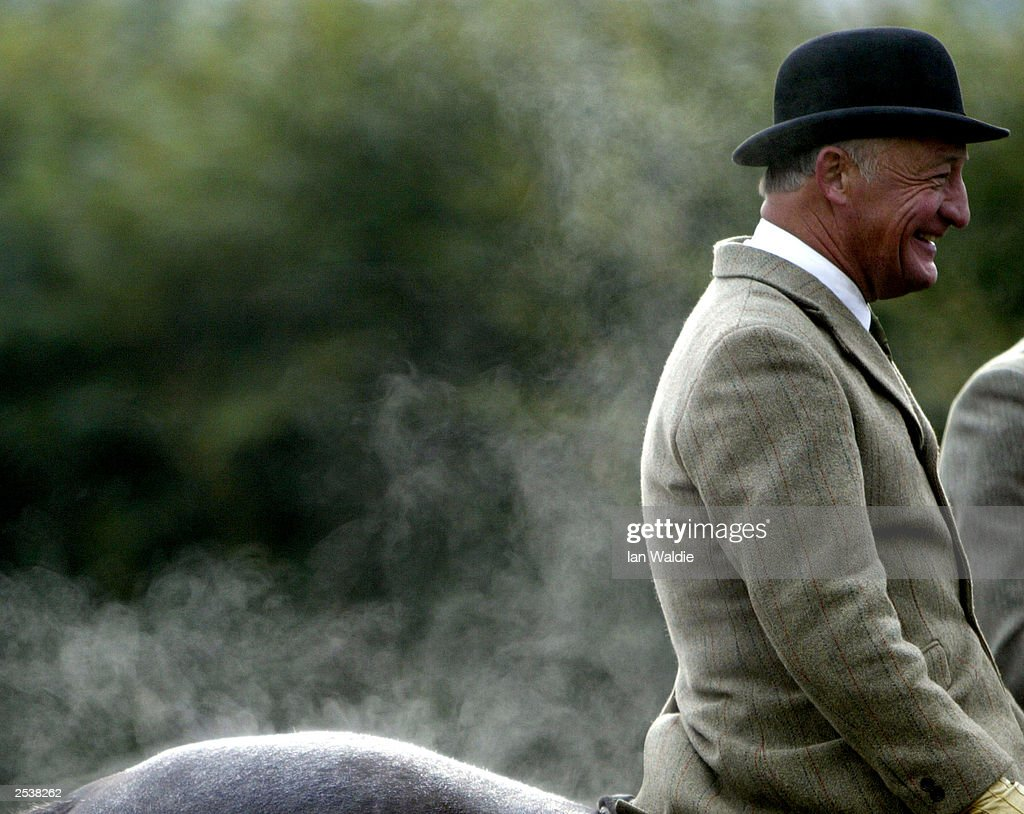 Steam rises from a huntsman and his horse at the Old Surrey Burstow West Kent Hunt September 26, 2003 in Mark Beech, England. The hunting with dogs bill will be voted on again by the House of Lords in October 2003, when peers will decide on whether the controversial sport will face an outright ban.