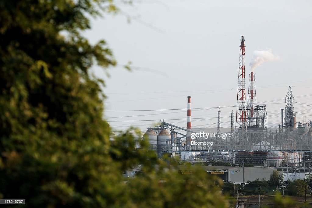 Steam rises from a stack at a plant in the Mizushima coastal industrial complex in Kurashiki, Okayama Prefecture, Japan, on Monday, Aug. 26, 2013. Japan's top listed companies doubled earnings last quarter from a year earlier, exceeding already high forecasts and generating support for the economic recovery effort of Prime Minister Shinzo Abe. Photographer: Kiyoshi Ota/Bloomberg via Getty Images