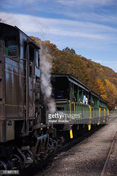 Steam train, Cass Scenic Railroad State Park, Cass, West Virginia, USA