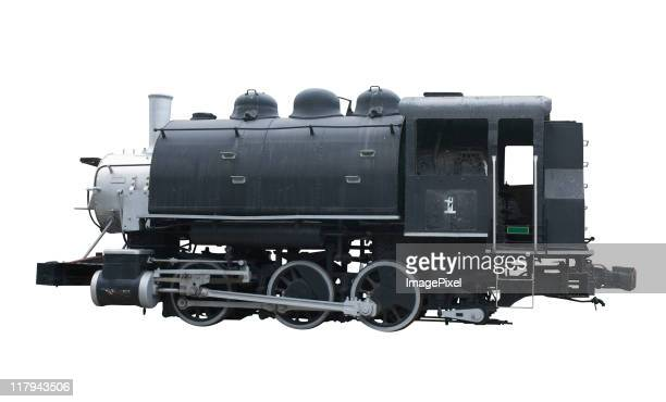 Locomotiva A Vapor com um Traçado de Recorte