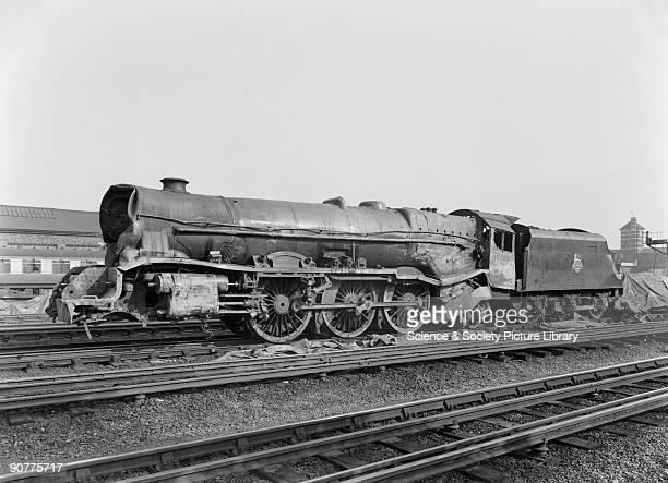 LMS steam turbine locomotive No 6202 after Harrow Station Accident 1952