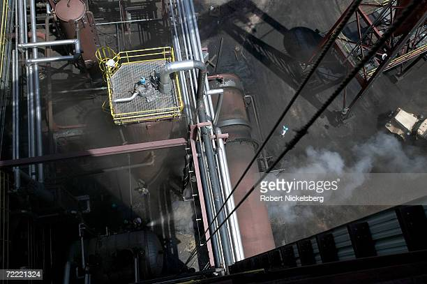 Steam under pressure is released from the KFuel coal thermal upgrading plant June 12 in Gillette Wyoming The $80 million usd northeastern Wyoming...