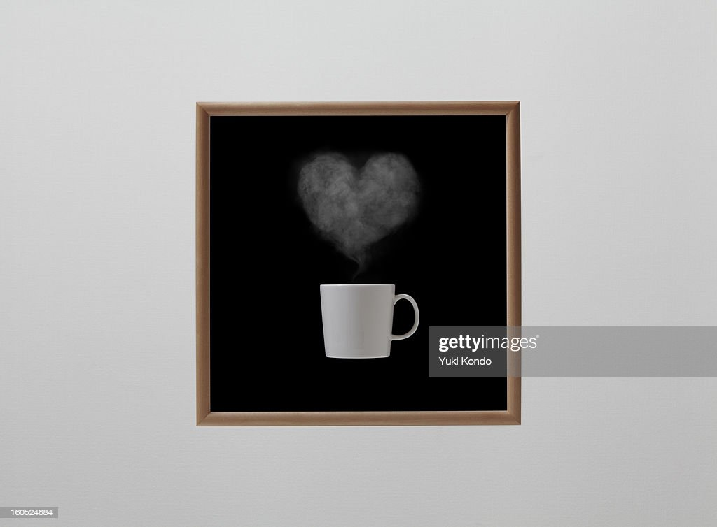 Steam which carried out the form of the heart . : Stock Photo