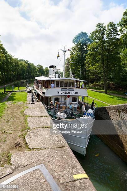 Steamboat Gota canal Sweden.