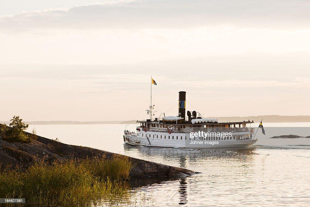 Steamboat on lake