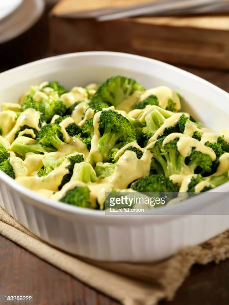 Steamed Broccoli with Cheese Sauce
