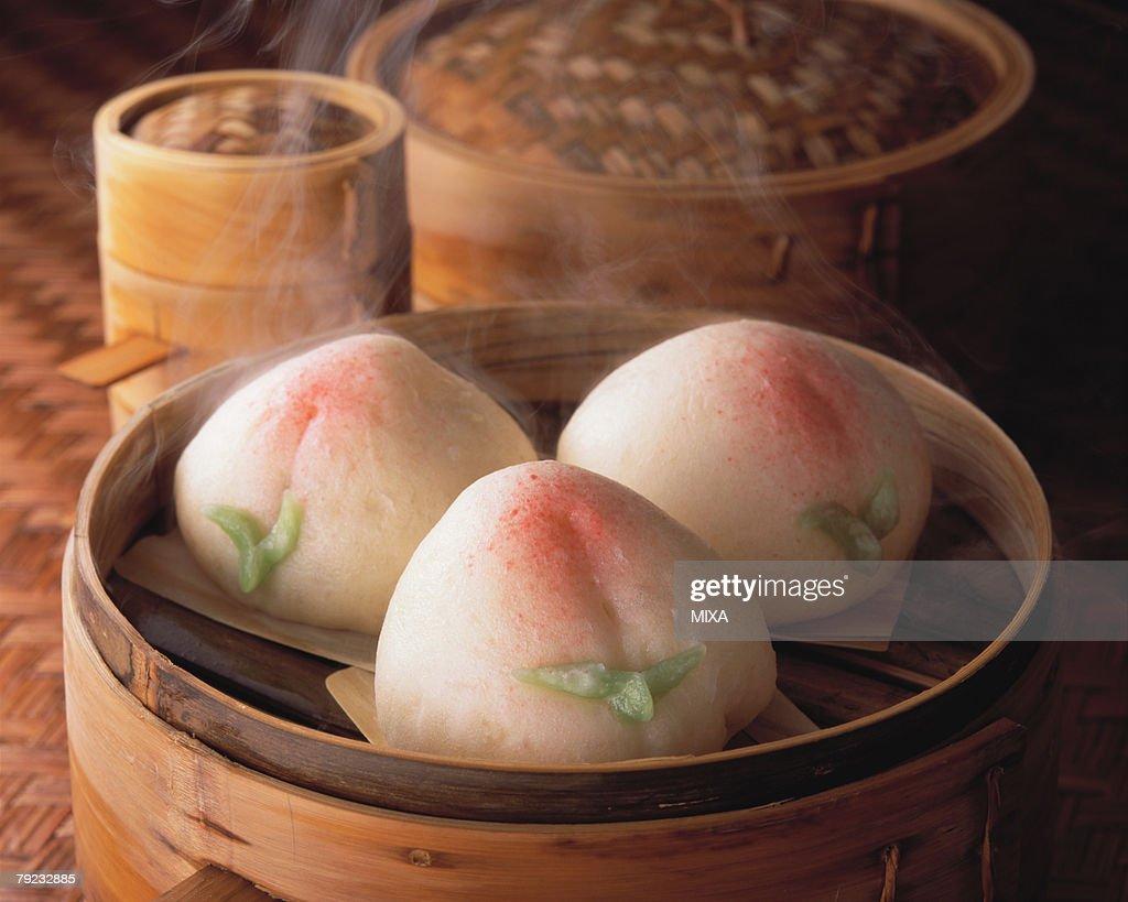 Steamed Bun : Stock Photo