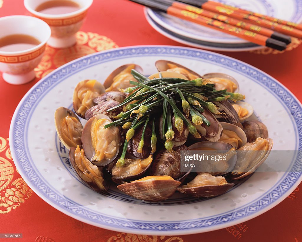 Steamed Clam : Stock Photo