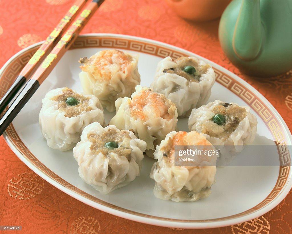 Steamed Dumpling : Stock Photo
