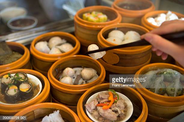 Steamed dumplings, close-up