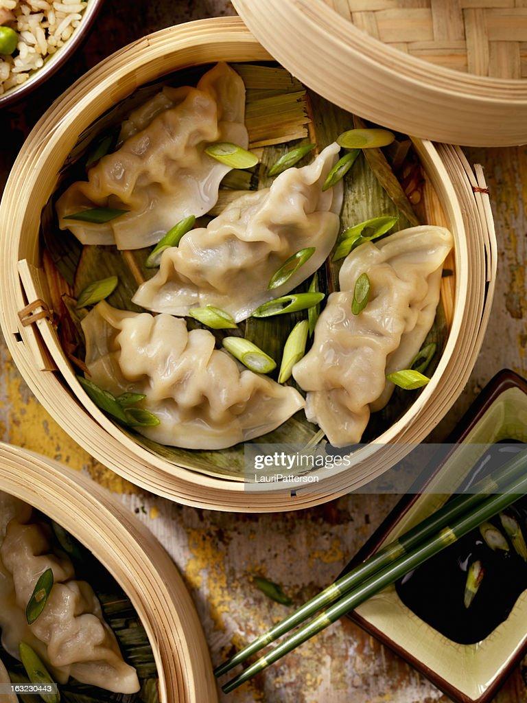 Steamed Dumplings : Stock Photo