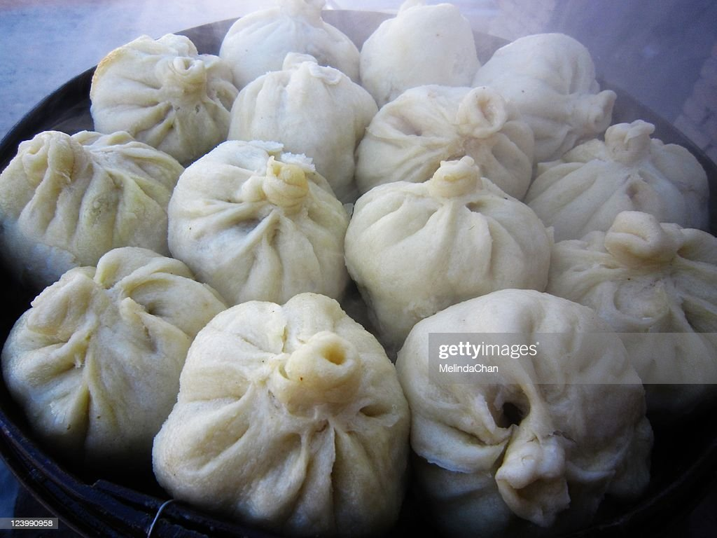 Steamed meat buns : Stock Photo