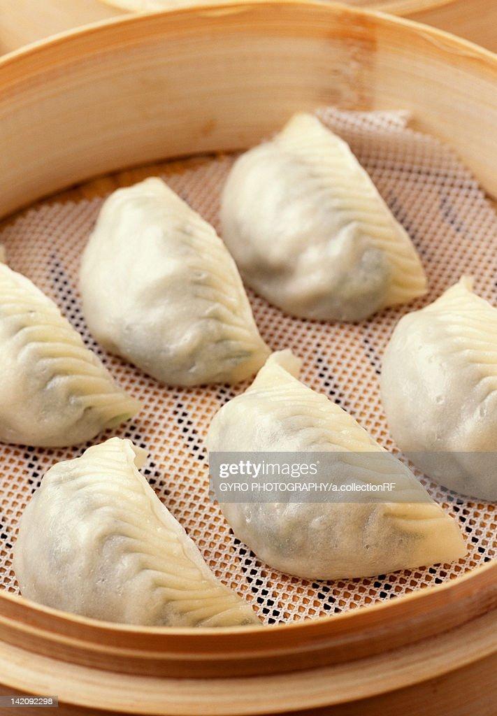 Steamed Meat Dumplings : Stock Photo