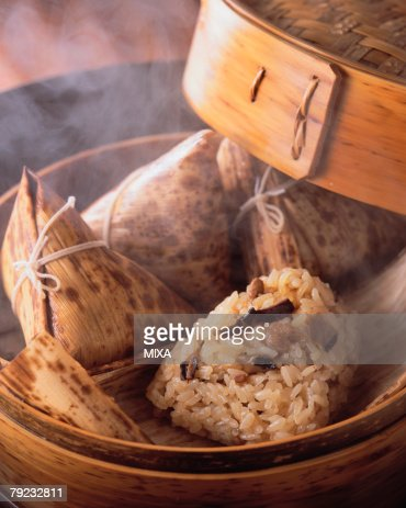 Steamed Rice in Lotus Leaf : Stock Photo