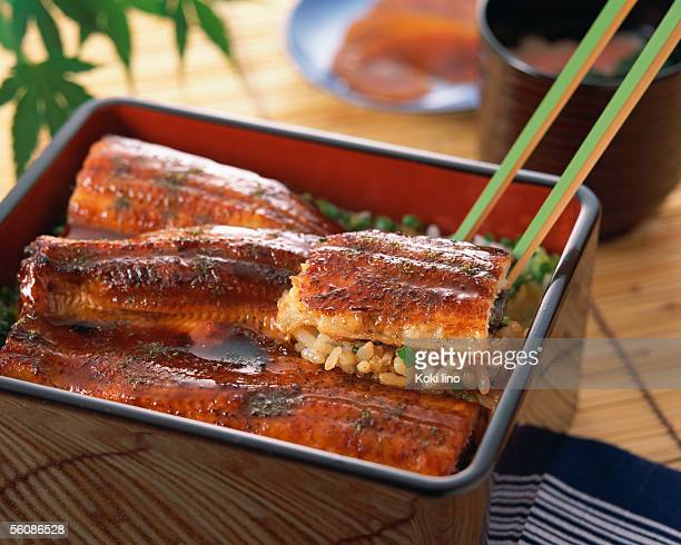 Steamed rice with eel