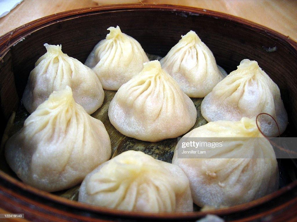 Steamed Shanghai style mini pork buns : Stock Photo