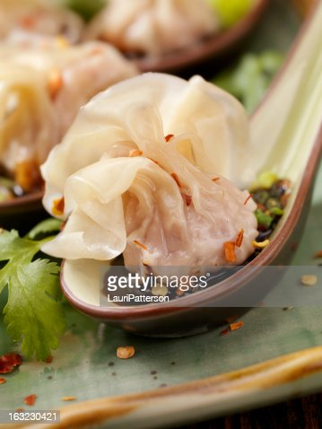 Steamed Wontons : Stock Photo