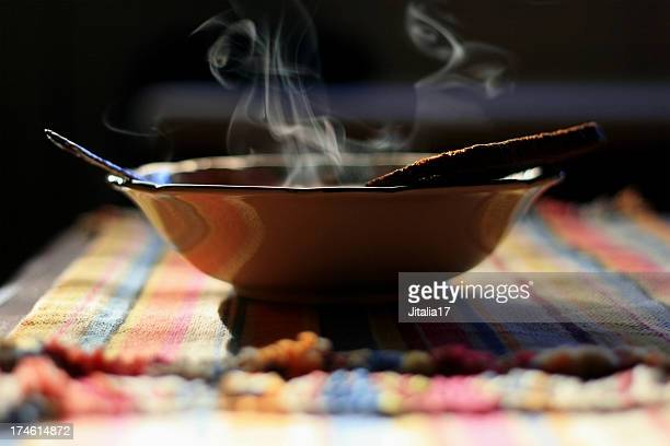 Steaming Bowl of Soup - Close Up