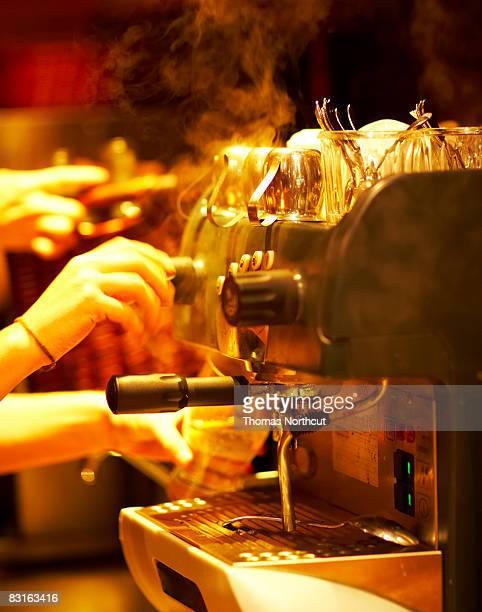 Steaming espresso machine