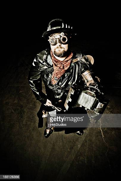 Steampunk Man with Claw Arm
