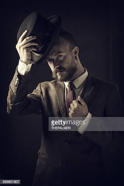 Steampunk style man
