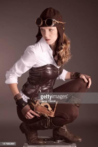 Steampunk woman