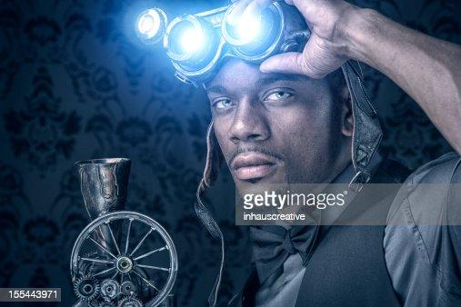 Steampunk Xray Vision Warrior : Stock Photo