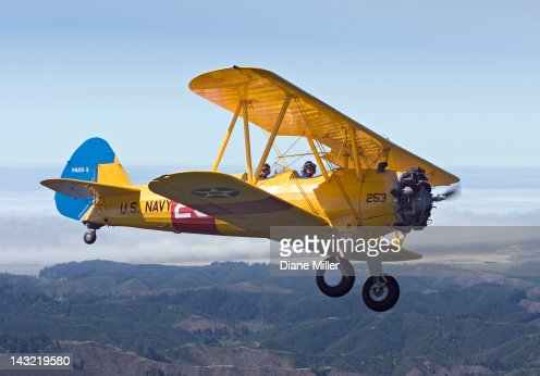 1943 Stearman biplane : Stock Photo