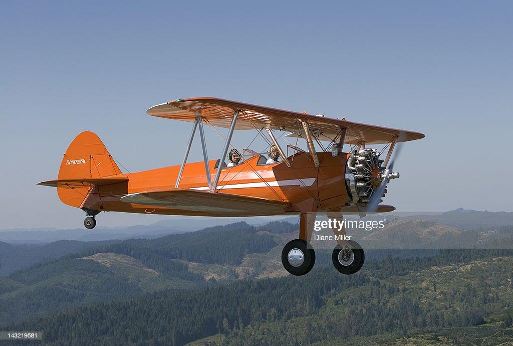 1943 Stearman biplane : Stock Photo