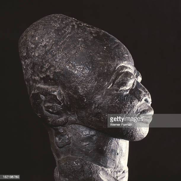 Steatite Yoruba head A large number of soapstone carvings were found near Esie Nigeria Yoruba c 17th 19th c