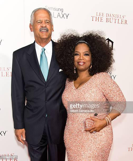Stedman Graham and Oprah Winfrey attend 'The Butler' premiere at Ziegfeld Theater on August 5 2013 in New York City