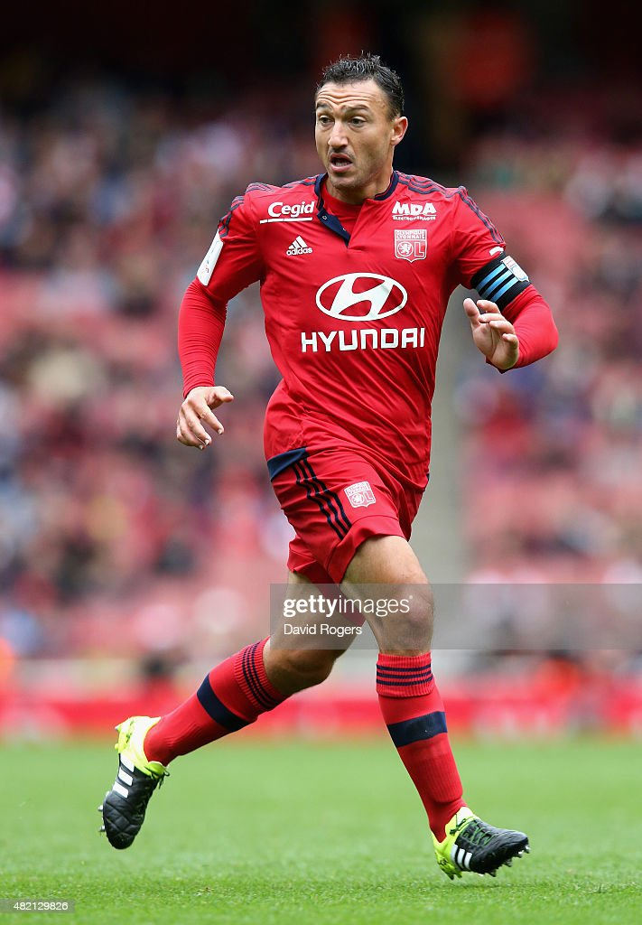 <a gi-track='captionPersonalityLinkClicked' href=/galleries/search?phrase=Steed+Malbranque&family=editorial&specificpeople=206647 ng-click='$event.stopPropagation()'>Steed Malbranque</a> of Lyon looks on during the Emirates Cup match between Olympique Lyonnais and Villarreal at the Emirates Stadium on July 26, 2015 in London, England.