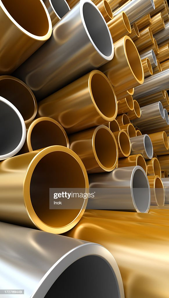 Steel and copper pipes