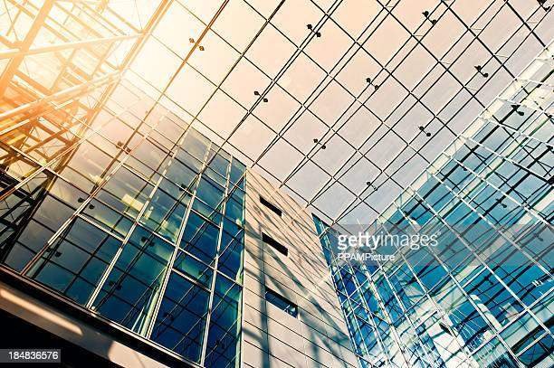 Steel and glass building