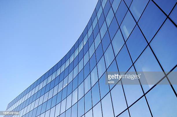 Steel and glass business background