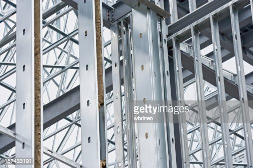 Steel beams at construction site  (XXL)