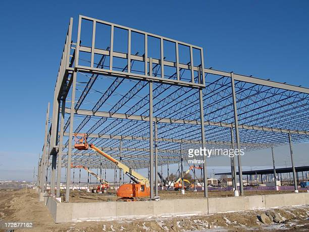 Steel Building Frame With Human Lifts