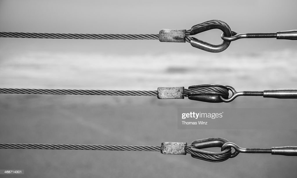 Steel cables and tensioner