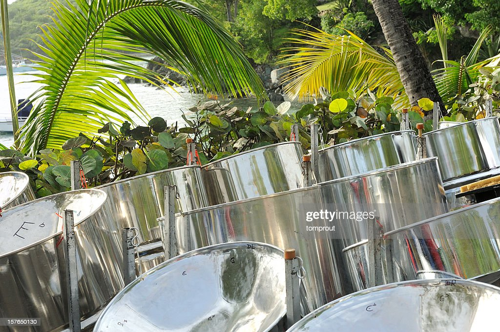 Steel Drums in Tropical Setting
