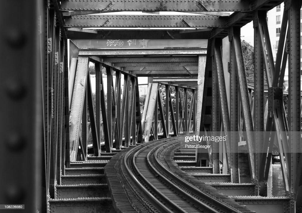 Steel Girder Railway bridge : Stock Photo