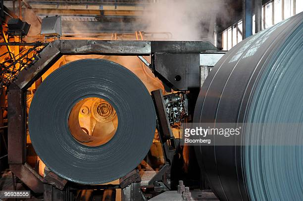 Steel is is made into rolls at the ArcelorMittal Ostrava steel plant in Ostrava Czech Republic on Thursday Jan 21 2010 ArcelorMittal Ostrava AS the...