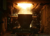 Steel is produced at ArcelorMittal Gent on September 05 2007 in Ghent Belgium Following approval by the Extraordinary General Meeting of Shareholders...