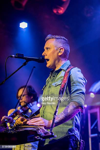 Steel Lap Player Andy Hall of The Infamous Stringdusters plays live at Bowery Ballroom on March 31 2016 in New York City