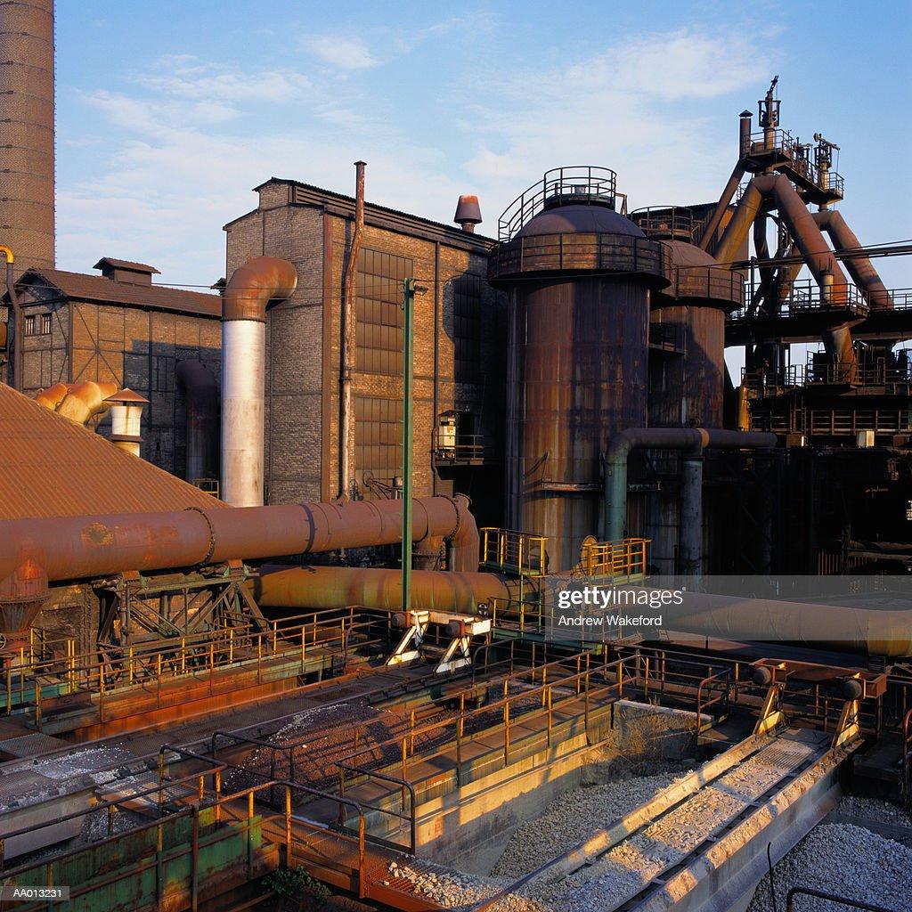Steel Mill in Germany : Stock Photo